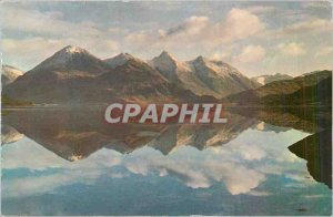 Postcard Modern Kintail Loch Duich and the Five Sisters