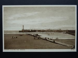 Kent MARGATE Harbour & Boating Pool - Old Postcard by A.H.& S. LP204