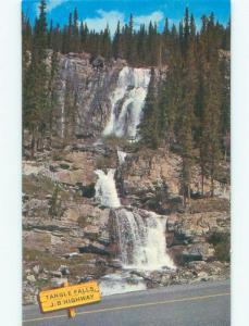 Unused Pre-1980 WATERFALL SCENE Jasper National Park Alberta AB E4227