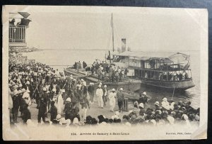 Mint French Senegal Real Picture Postcard Samory Arrival To Saint Louis