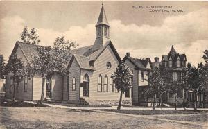 D67/ Davis West Virginia WV Postcard c1910 M.E. Church Albertype