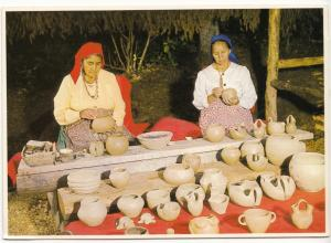Oconaluftee Indian Village, Cherokee, North Carolina, unused Postcard