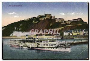 Postcard Old Boat Enrenbreitstein