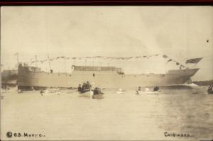 Portland ME Chip Ceiling Co Cumberland Shipbuilding Ship Launch CHIBIABOS rppc