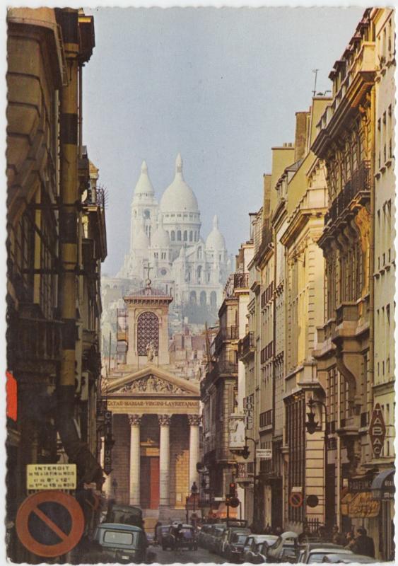 PARIS, Notre-Dame de Lorette et le Sacre-Coeur, unused Postcard