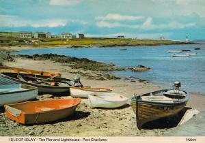 Isle Of Islay Blackrock Port Charlotte Fishing Boats Postcard