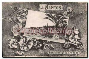 Old Postcard Menton think a