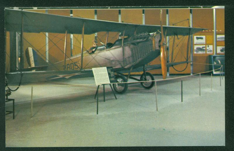 Curtiss JN-4D Jenny Aircraft Trainer WWI D Model Wartime Pilot Airplane Postcard
