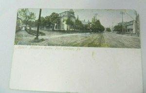 Vintage Postcard 1908 Port Carbon PA Robert Allison's Home Dives Pomeroy & Stewa