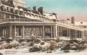 LPS95 Skytop Pennsylvania Skytop Lodge Hand Colored Postcard Albertype