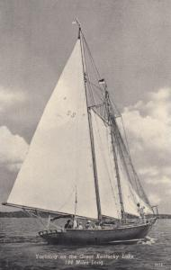 KENTUCKY , 40-50s ; Yachting On The Great Kentucky Lake, 184 Miles Long