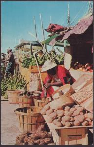 Vegetable Market,Nassau,Bahamas Postcard BIN