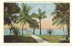 Caloosahatchie River Scene from Thomas A. Edison´s Gardens, Fort Myers, Flor...