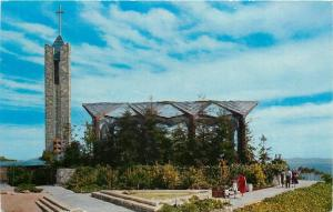 Rancho Palos Verdes, California~The Wayfarers Chapel Exterior~1950s Postcard