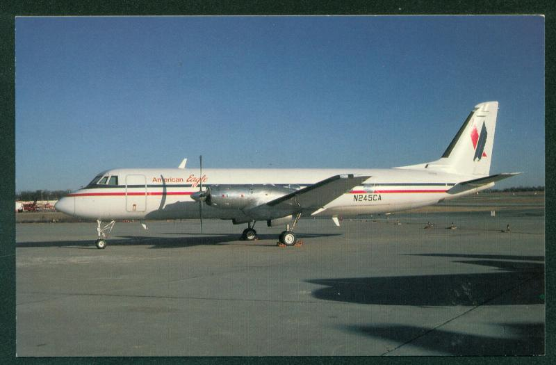 American Eagle Airlines Grunman Gulfstream G-1 Aircraft Airplane Postcard
