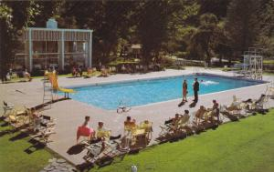 Heated outdoor pool , HARRISON HOT SPRINGS , B.C., Canada , 50-60s