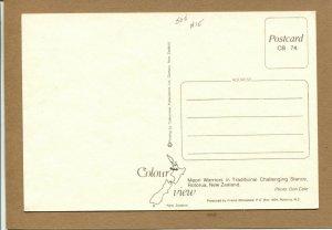 Postcard New Zealand Rotorua Maori Warriors Traditional Challenging Stance -934