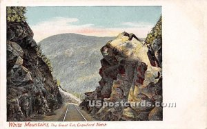 The Great Cut in Crawford Notch, New Hampshire
