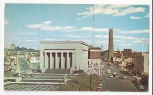 MD Baltimore War Memorial Plaza and Shot Tower D Traub Maryland Vntg Postcard