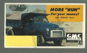 c1940s ADVERTISING Ink Blotter GMC DUMP TRUCK General Motors Company