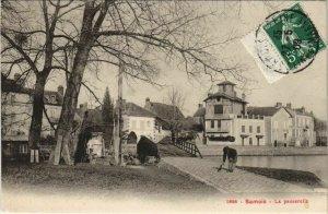 CPA Samois La passerelle FRANCE (1101216)