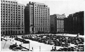 RPPC Plaza de la Constitución SANTIAGO Chile c1940s Vintage Photo Postcard