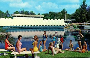 Florida Weeki Wachee Springs Lovely Mermaids Posing On The Beach