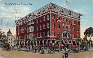 Tampa Florida~Elk's Home~BPOE~Elk on Street Corner~Victorian People~1915 Pc