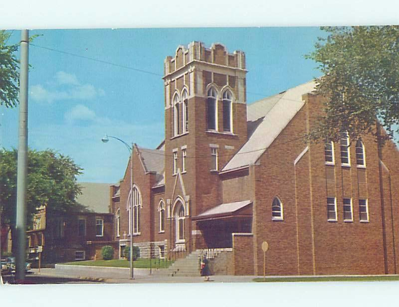 Unused Pre-1980 CHURCH SCENE Eau Claire Wisconsin WI A6510