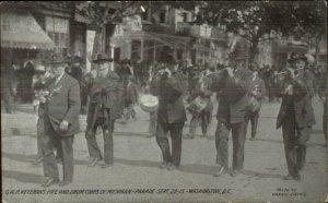 Washington DC GAR Civil War Veterans Fife Drum Corps of Michigan 1915 Postcard