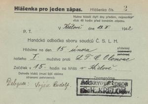 KRELOV , czech Republic , PU-1942 (Bohmen und Mahren)