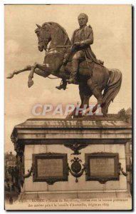 Old Postcard Rouen Statue of Napoleon 1st Austerlitz