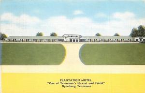Dyersburg TN~Plantation Motel~1940s Postcard