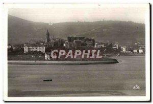 Old Postcard View Hendaye Hondarribia