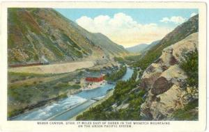 W/B of Weber Canyon 17 Miles east of Ogden Utah UT Train