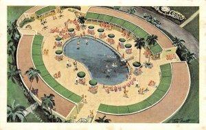 Cabana Sun Club & Pool, Hotel National de Cuba, Havana c1950s Vintage Postcard