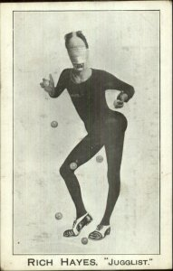 Circus Sideshow or Stage Act Rich Hayes Jugglist Juggler Creepy Mask Postcard