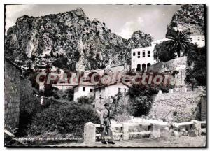 Postcard Frontiere Franco Italian Moderne Menton Port St Lopie