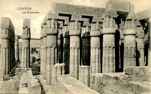 Egypt - Luxor. Colonnades