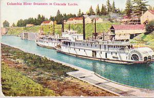 Columbia River Steamers in Cascade Locks 1915