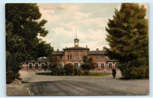 Sweden Skofde Stationen Station Building Vintage Postcard D79