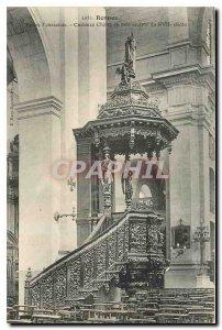 Postcard Old Church Rennes Tourissaints curler Wooden Chair