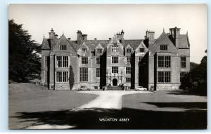 *Wroxton Abbey Banbury UK Old Classic Cars RPPC Vintage Real Photo Postcard C86