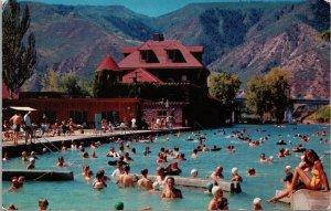 Postcard CO Colorado Glenwood Springs Hot Springs Pool Swim Posted 1957