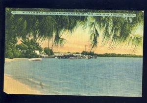 Madeira Beach-Bay Pines, Florida/FL Postcard, Welch Causeway, Greater Gulf