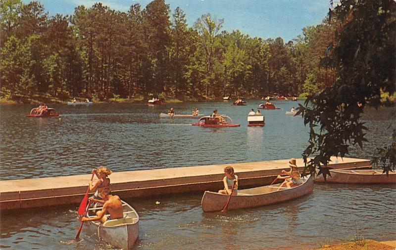 Pine Mountain Georgia~Robin Lake Beach~Callaway Gardens~Paddle Boats~Canoe~1950s