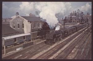 Nickel Plate 172 Lackawanna Railroad Train Chicago Hudson Illinois Postcard