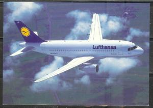Lufthansa Airlines - Airbus 319, unused, plane data on back