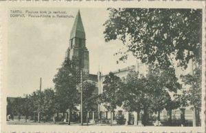 TARTU - ST PAUL'S CHURCH - B & W view shows the building & school building, 1920
