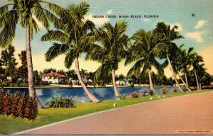 Florida Miami Beach Scene Along Indian Creek 1943